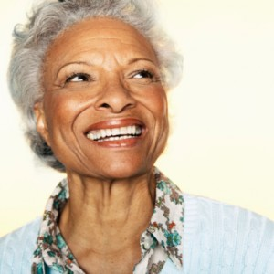woman smiling showing great dentures burlington loves from Complete dental care