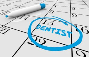 Dental appointment circled on calendar